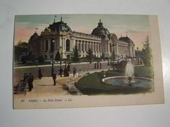 Cp1300 E14 PARIS Le Petit Palais  Animée Colorisée 1916 - France