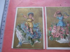 6 Litho Trade Cards Compl Set CR 1-2-3 Impr Courbe Rouzet  PUB C1880 Ne M'oubliez Pas La Rochelle Sain Denis Chartres - Autres