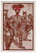 Congo - Série Quelques Polichinelles N° 6, Danseur Kaluena, Illustrateur Luc, Editions Imbelco Elisabethville - 2 Scans - Congo Belge - Autres