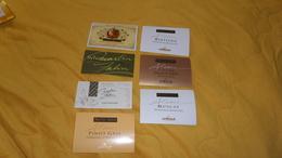 LOT DE 7 ETIQUETTES DE VIN. / VIN D'ALSACE. MARTIN ZAHN. RIBEAUVILLE. / PINOT GRIS, MUSCAT, RIESLING, VENDANGES MANUELLE - Collections & Sets