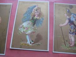 6 Litho Trade Cards Compl Set CR 1-2-6 Impr Courbe Rouzet  PUB C1880 Au Bon MARCHE à Nancy MINERALOGY Topaz Rubis Sahpir - Autres