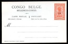 CONGO Postal Card With Overprint #59 30 On 10 Cent. Mint Vf 1921 - Ganzsachen