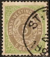 Dansk Vestindisk 5c. 1876 10 II Light Grey, Danish West Indies, Westindien