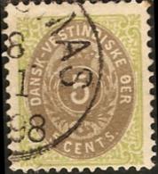 Dansk Vestindisk 5c. 1896 Mi 19 II Inverted Frame, Rahmen Kopfstehend, Danish West Indies, Westindien