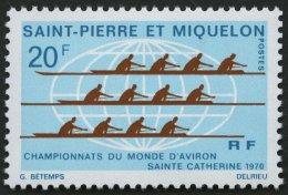 ST. PIERRE UND MIQUELON 459 **, 1970, 20 Fr. Ruderweltmeisterschaften, Pracht, Mi. 22.- - Ohne Zuordnung