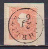 AUSTRIA  1859  EFFIGE DI FRANCESCO GIUSEPPE I UNIF. 14  USATO  SU FRAMMENTO VF - 1850-1918 Imperio
