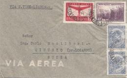 ARGENTINA 1941? - 4 Fach Frankierung Auf LP-Brief Von Agentina > Minusio Suiza, FP Via New York - Lisboa - Argentinien