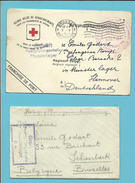 Kriegsgefangenensendung  Kaart+brief MUNSTERLAGER / BRUXELLES (Schaerbeek) 1915 / Prisonners SERVICE GRATUIT