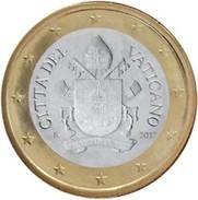 Vatikaanstad 2017    1 Euro Met De Nieuwe Afbeelding !!  Zeer Zeldzaam - Extréme Rare !!!! Leverbaar - Livrable !! - Vaticano (Ciudad Del)