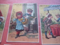 6 Litho Trade Cards Compl Set CR 2-1-2 Impr Courbe Rouzet HOMOGENE PUB C1880 BILLIE à La Rochelle - Old Professions Exc - Chromos