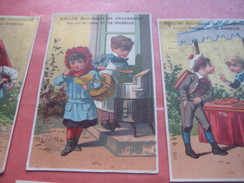6 Litho Trade Cards Compl Set CR 2-1-2 Impr Courbe Rouzet HOMOGENE PUB C1880 BILLIE à La Rochelle - Old Professions Exc - Trade Cards