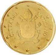 Vatikaanstad 2017    20 Cent  Met De Nieuwe Afbeelding !!  Zeer Zeldzaam - Extréme Rare !!!! Leverbaar - Livrable !! - Vatican