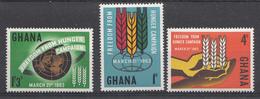 Ghana 1963 Mi.nr: 138-140 Kampf Gegen Den Hunger  Neuf Sans Charniere /MNH / Postfris - Ghana (1957-...)