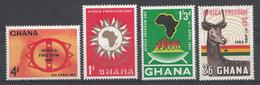 Ghana 1963 Mi.nr: 141-144 Tag Der Afrikanischen Freiheit  Neuf Sans Charniere /MNH / Postfris - Ghana (1957-...)