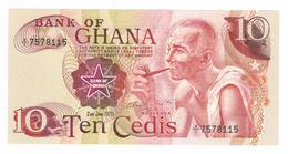 Ghana 10 Cedis, 1978 , UNC .  Free Ship. To USA. - Ghana