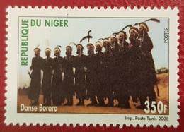 NIGER 2008 YT 1675 DANSE TRADITIONNELLE DANSES TRADITIONAL DANCE DANCES BORORO MNH (VERY RARE) - Niger (1960-...)