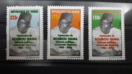 NIGER 2006 YT 1666/8 CENTENAIRE BOUBOU HAMA POLITIQUE ECRIVAIN NIGERIEN MNH (VERY RARE) - Niger (1960-...)