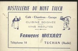 TUCHAN ( AUDE )  HOSTELLERIE DU MONT TAUCH  CAFE  CHAMBRES  FRANCOIS  MUXART - Publicités