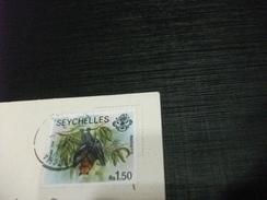 STORIA POSTALE FRANCOBOLLO COMMEMORATIVO PIPISTRELLO SEYCHELLES PORT LAUNAY MARINE PARK - Seychelles