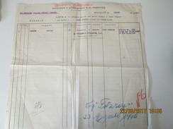 THE FALKLAND ISLANDS COMPANY LTD -  1940 PASSENGER LIST - FITZROY PAQUEBOT From MONTEVIDEO To PORT STANLEY - Documentos Históricos