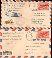 1942 US NAVY BISHOPS POINT HAWAII TERRITORY TWO COVERS WITH PHOTO CACHETS - Storia Postale