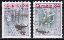 Canada 1986 N° Y&T : 960 Et 961 Obl.