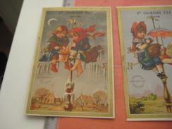 8 Litho Trade Cards SERIE COMPLETE CR 2-2-21 Impr Courbe Rouzet PUB Chamagne DECHAUX à Dijon C1880  Weather Vane Vent - Chromos