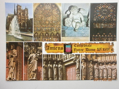 Postcard Amiens Cathedrale Notre Dame Multiview My Ref B2723