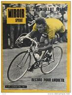 Miroir-Sprint N°893 En Jaune - 15 Juillet 1963 - Cyclisme: Record Pour Anquetil (4ème Maillot Jaune) - Sport