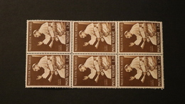Vatican 416 Pope Paul VI Addressing UN Block Of 6 MNH 1965 A04s - Unused Stamps