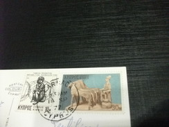 STORIA POSTALE FRANCOBOLLO COMMEMORATIVO  CIPRO CHIESA DI SAN LAZZARO - Cipro
