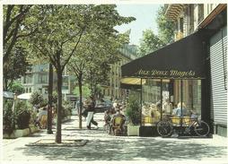 Paris France Cafe Aux Deux Magots Cityscape Postcard - France