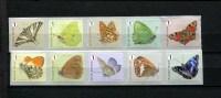 294588429 POSTFRIS  Butterflies Vlinders Roln Bij Kleine Weerschijnvlinder Eindigend Op 5 En Dagpauwoog Eindigend Op 0 - Unused Stamps