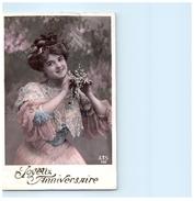 Fantaisie - Femme - Mode - Fêtes - Anniversaire - Fleurs - Anniversaire