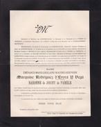 ESQUELMES BRUXELLES Emérance Marquise RODRIGUEZ D'EVORA Y VEGA Baronne De JOIGNY De PAMELE Famille De LICHTERVELDE 1899 - Obituary Notices