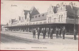 Essen Esschen Binnenzicht Der Statie Station La Gare Hoelen Cappellen Nr. 1419 Geanimeerd (zeer Goede Staat) - Essen