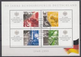 Allemagne 1999  Mi.Nr: Block 49  50.Jahre Bundesrepublik  USED GEBRUIKT OBLITERE - Oblitérés
