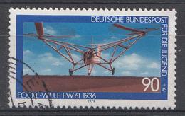 Allemagne 1979  Mi.Nr: 1008 Luftfahrt  USED GEBRUIKT OBLITERE - [7] République Fédérale