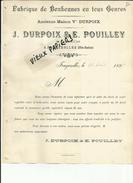 70 - Haute Saone - Fougerolles -  Circulaire J.Durpoix - E.Pouilley - Décès De Mme .Durpoix Mère  -  1899 ??  - Réf 10 - - 1800 – 1899
