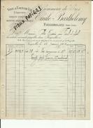 70 - Haute Saone - Fougerolles - Facture Emile Barthélémy - Absinthe - 1902  - Réf 10 - - France
