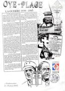 "FRANCE 1990 : Encart 1er Jour R/V Rare : "" DE GAULLE /  OYE PLAGE "". Voir état. - De Gaulle (General)"