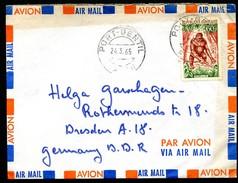 GORILLA On Cover GABON Used Port-Gentil To East Germany 1965