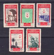 MARRUECOS 1949.PRO TUBERCULOSOS .EDIFIL Nº 307/311 .NUEVOS  SIN CHARNELA   SES300GRANDE - Marruecos Español