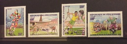 IVORY COAST COTE D'IVOIRE 1998 YT 995/8 FIFA WORLD CUP SOCCER FOOTBALL COUPE MONDE FRANCE MNH (VERY RARE) - Coupe Du Monde