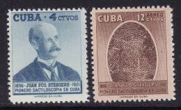 Cuba #571, C157 F-VF MNH ** (1957) Juan F. Steegers - Unused Stamps