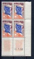 2046  - FRANCE  Service  N°17 **  8Fr   Conseil De L'Europe  : Drapeau   Du   2.7.58    SUPERBE - 1950-1959