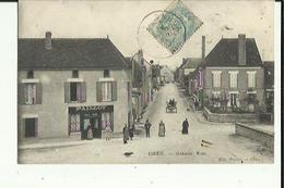 Cheu  89    La Grande-Rue Tres Animée Attelage Et  Debit De Tabac - Altri Comuni