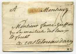 MP BERGERAC  Lenain N°3A / Dept 23 DORDOGNE / 1766 - 1701-1800: Precursores XVIII