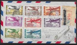 Africa Ecuatorial Francesa 1947. Correo Aereo Certificado A Brooklyn. - Cartas