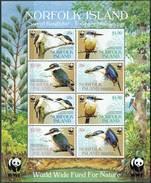 Norfolk Isl. 2004. Michel #895/98 MNH/Luxe. Klb. WWF. Sacred Kingfisher. (Ts55) - W.W.F.